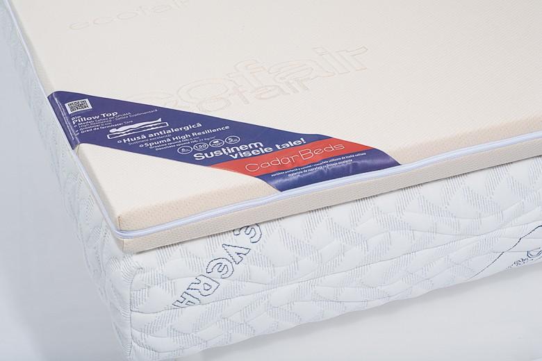 Bio Pillow Top Fedőmatrac 6 cm poliuretán hab